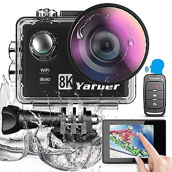 4k אולטרה HD פעולה מצלמה, עם 6 מייצב ציר שלט רחוק