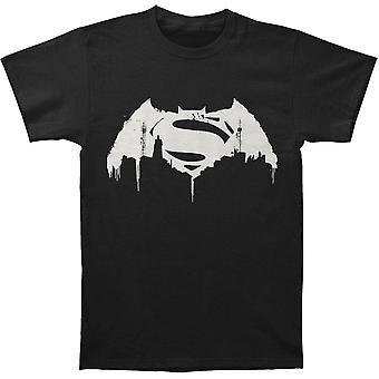 Batman v Superman: Dawn Of Justice Beaten Logo T-shirt