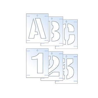Scan Letter & Number Stencil Kit 100mm SCA9406