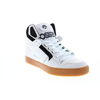 Osiris Clone  Mens White Canvas Skate Sneakers Shoes