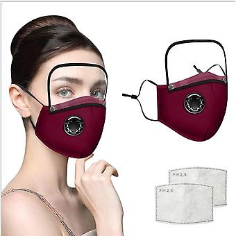 Fabric Cotton Earloop Face Protection Reusable Mask With Face Sheild
