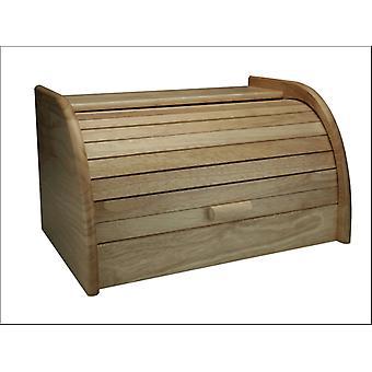Apollo Housewares Rubberwood Bread Bin Roll-top 6545