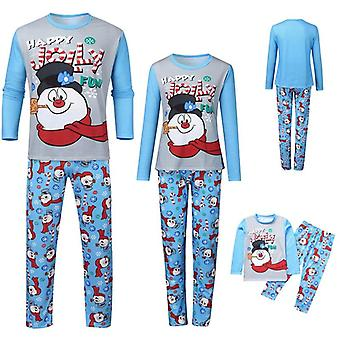 Family Matching Christmas Pajamas Set, Print Warm Swearshirt And Pants