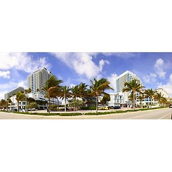 Hotel in a city Fort Lauderdale Florida USA Poster Print
