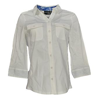 Women with Control Women's Top Wrinkle Resistant White A354618
