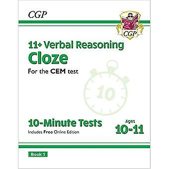Ny 11 + CEM 10-minutters test: Verbal ræsonnement Cloze - Alder 10-11 Bog 1 (med Online Edition)