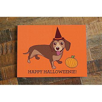 Happy Halloweenie Dachshund Card