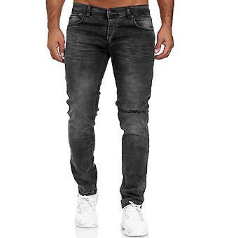 Pantalon sain homme Pantalon classique En denim Slim utilisé bas de taille régulière
