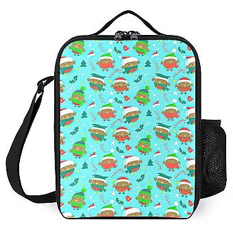 Christmas Holiday Robin Birds Lunch Bags Insulated Lunch Cooler
