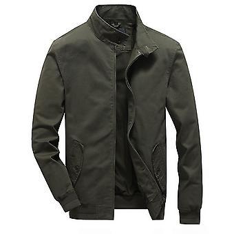 Allthemen Men's Military Lightweight Jacket Casual Stand Collar Windbreaker Coat