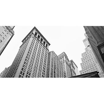 גורדי שחקים בעיר וול סטריט תחתון במנהטן מנהטן ניו יורק העיר מדינת ניו יורק פוסטר הדפסה