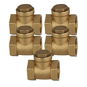 1Inch Brass Thread Female BSPP Swing Check Valve DN25 with ID 32mm Set of 5