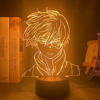 Anime My Hero Academia Shoto Todoroki Face,  Design Led Night Light Lamp