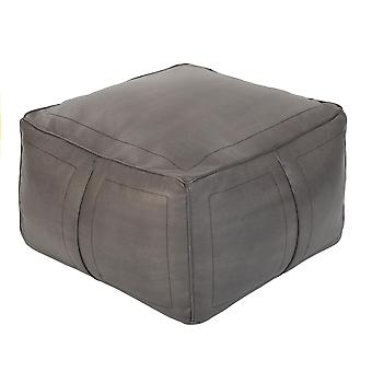 Living Room Charcoal Bean Bag Footstool Comfy Faux Leather Water Resistant Pouffe