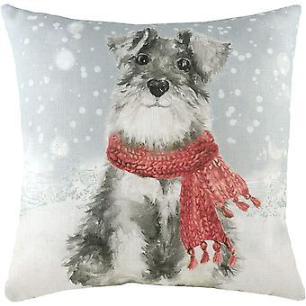 Evans Lichfield Snöig hund med scarf kudde omslag