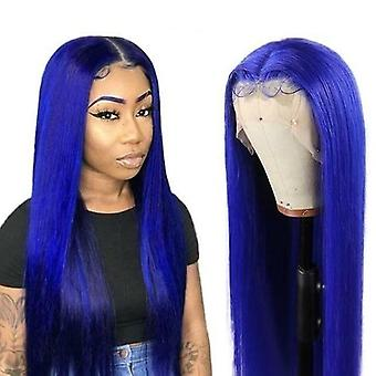 4 Colors Blue 13x4x1 Middle Part  Lace Front Wig Brazilian Straight