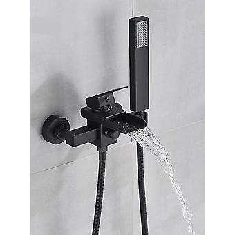 Montaje en pared, cabezal de ducha de 2 vías y boquilla de bañera de cascada