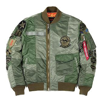 Flight Jacket Army Green, Men's Spring, Autumn Bomer Jacket