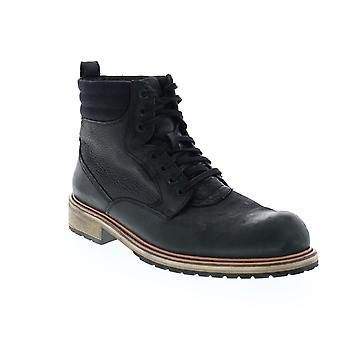 Andrew Marc Walker  Mens Black Leather Casual Dress Boots