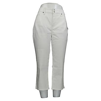 NYDJ Women's Jeans Cool Embrace Crop With Side Slits - Optic White A377695