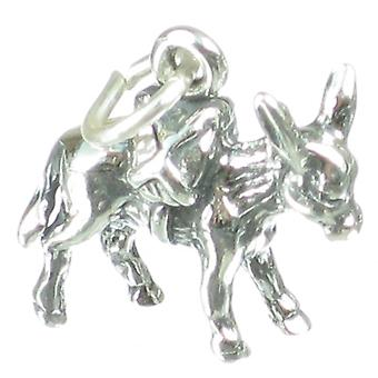 Pack Mule Donkey Sterling Silver Charms .925 X 1 Mules Donkeys Charms - 2709