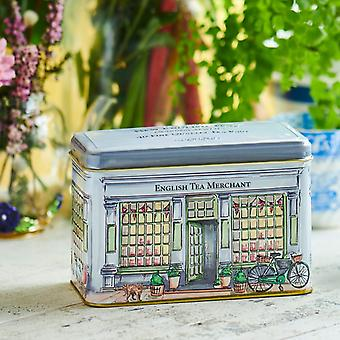 Vintage tea merchants english breakfast tea shop tin 40 teabags