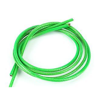 Zelený pvc potiahnutý flexibilný drôtený lanový kábel z nehrdzavejúcej ocele pre šnúru na oblečenie