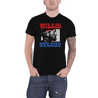 Willie Nelson T Shirt Stare Logo new Official Mens Black