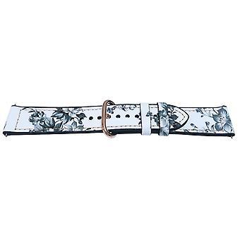 Correa de reloj híbrido de silicona súper lisa con cuero de pantorrilla