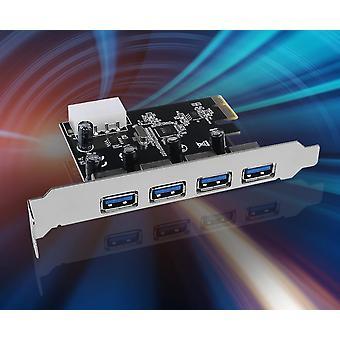 Scheda di espansione Usb 3.0 Pci-e a 4 porte Pci Express Pcie Usb 3.0 Scheda hub a 4 porte