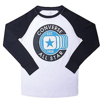Boy's Converse Junior Raglan T-shirt i hvid