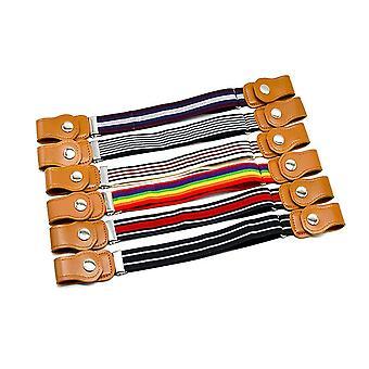 Vintage gestreifte Kinder Kinder Schnalle frei verstellbare elastische Taille Gürtel Bund