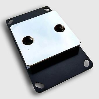 Topo acrílico com bloco de resfriamento de água da CPU leve microcorto de cobre níquel
