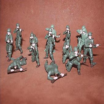 Green Soldier Model Action Figure 6cm Miniature Accessories Pvc Birthday