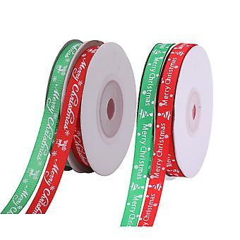 Christmas Ribbons Printed Xmas Tree, Snowflakes, Merry Christmas Option 7