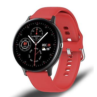Lige Sport Smartwatch - Silicone Strap Fitness Activity Tracker Watch Android - Red