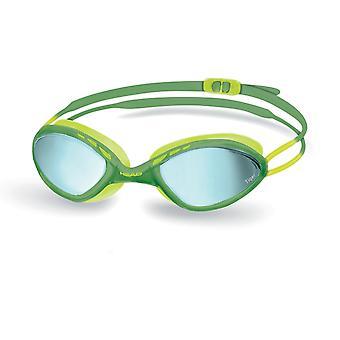 HEAD Tiger Race Mirrored Liquidskin Swim Goggles-Olive Green/Yellow