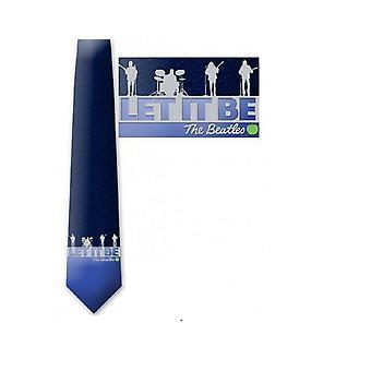 The Beatles Tie Let It Be Band logo uusi virallinen sininen Silkki