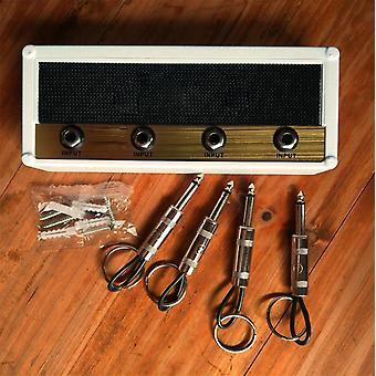Key Storage Guitar Keychain Holder Jack, Electric Rack, Vintage Amplifier, Ring