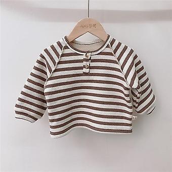 סתיו/חורף בייבי פליז בטנה חולצות חמות תחתית חולצות פסים חולצת טריקו