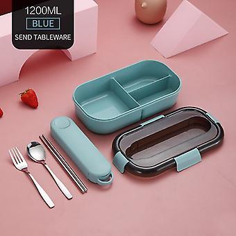 Mikrovågsugn lunchbehållare låda Bento Box japansk stil läckagesäker matbehållare för barn med serviser