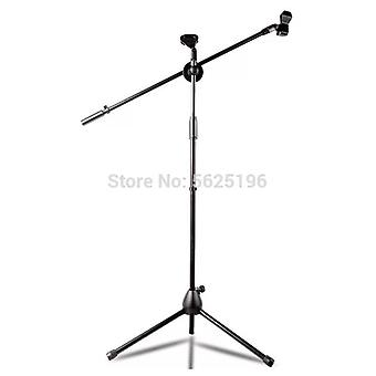 Adjustable Tripod Microphone Stand Floor Swing Boom Mic Stand With 2 Microphone