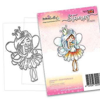 Polkadoodles Serenity Fairy Princess Clear Stamps