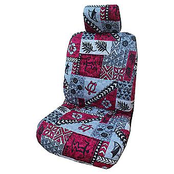 Side Airbag Optional; Tapa Separate Headrests Hawaiian Car Seat Covers