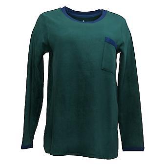 Cuddl Duds Mujeres's Fleecewear Pajama Top Green A381825