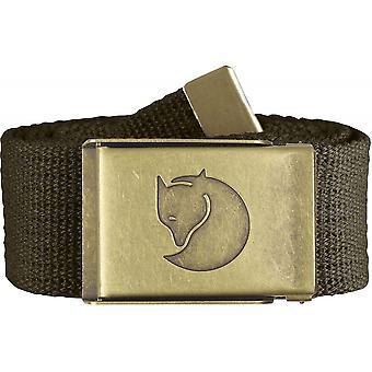 Fjallraven Canvas Brass Belt 4cm - Dark Olive