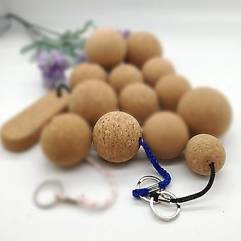 Natation Floating Cork Ball Round Keychain