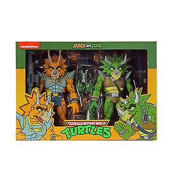 NECA TMNT Captain Zarax & Zork Cartoon 2-Pack 7 Inch Action Figure