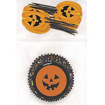 Cupcake mallen en Halloween foto's