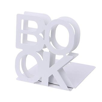 Alphabet Shaped Metal Bookends Iron Support Holder Desk Stands